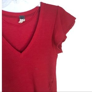 Free People Tops - We The Free short sleeve red top